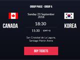 加拿大女篮VS韩国女篮