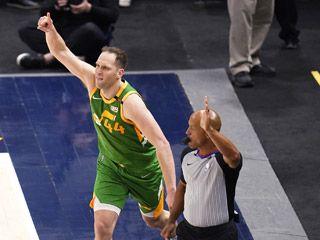 NBA-爵士力克掘金
